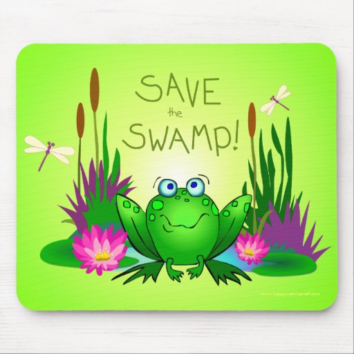 Save the Swamp Twitchy the Frog Mouse Pad