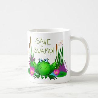 Save the Swamp Twitchy the Frog Mug