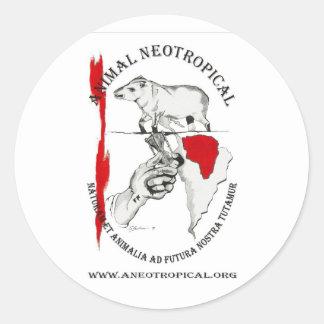 save the Tapir Round Stickers