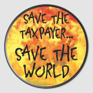Save The Taxpayer Classic Round Sticker