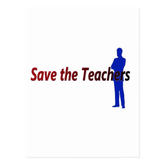 Save the Teachers Postcard