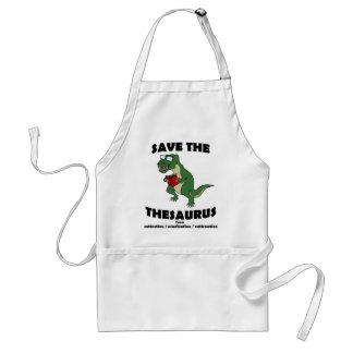 Save The Thesaurus Dinosaur Adult Apron