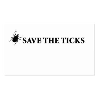 Save the Ticks Business Card