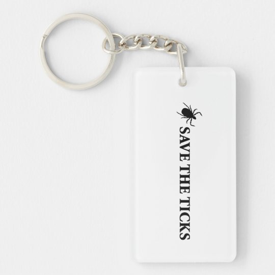 Save the Ticks Keychain