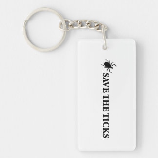 Save the Ticks Single-Sided Rectangular Acrylic Keychain