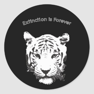 Save the Tiger Extinction is Forever Classic Round Sticker