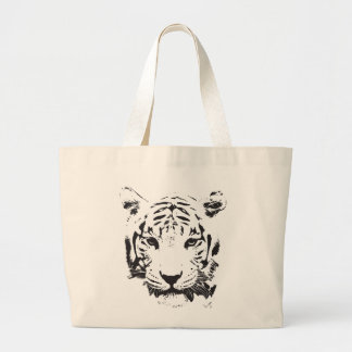 Save the Tiger Extinction is Forever Large Tote Bag
