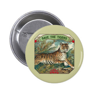 Save The Tigers 2 Inch Round Button