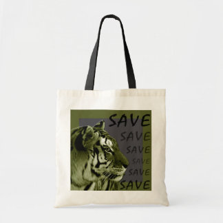 Save the Tigers Budget Tote Bag