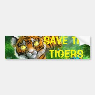 SAVE THE TIGERS bumper Car Bumper Sticker