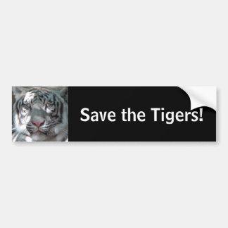 Save the Tigers Car Bumper Sticker