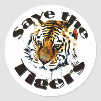 Save the Tigers Classic Round Sticker