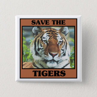 Save the Tigers Pinback Button