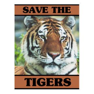Save the Tigers Postcard