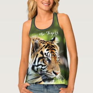 Save the Tigers Sumatran Tiger Photo Tank Top