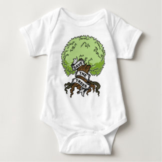 Save The Trees Baby Bodysuit