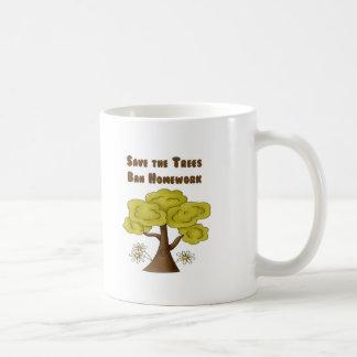 Save the Trees Ban Homework Coffee Mugs