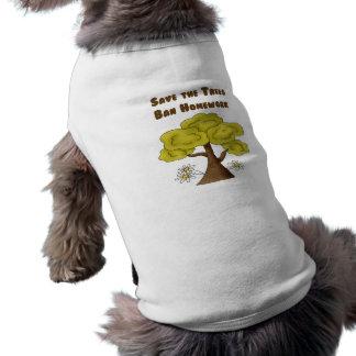 Save the Trees Ban Homework Dog T Shirt