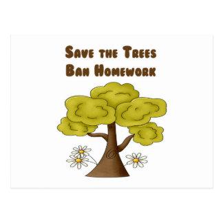 Save the Trees Ban Homework Postcards
