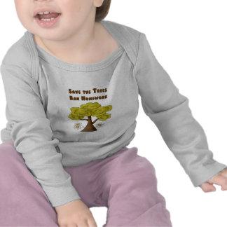 Save the Trees Ban Homework Shirt