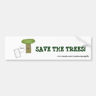Save The Trees Bumper Sticker