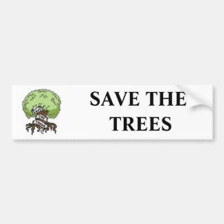 Save The Trees Car Bumper Sticker