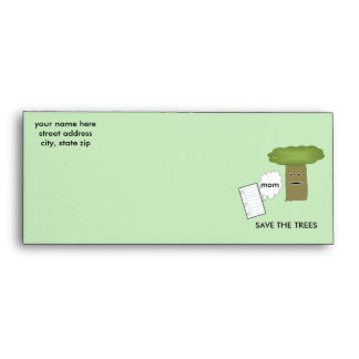 SAVE THE TREES Cartoon Envelope