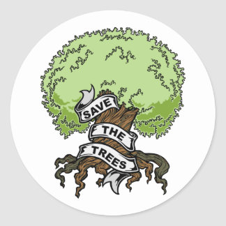 Save The Trees Classic Round Sticker
