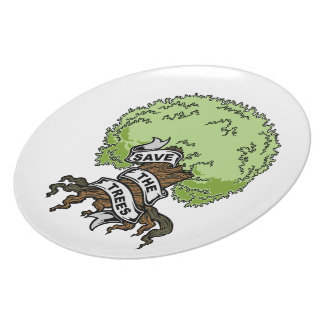 Save The Trees Dinner Plate