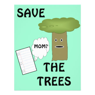 Save the trees flyer