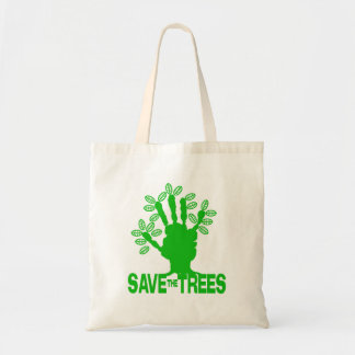 Save The Trees Green Message Eco Friendly bag