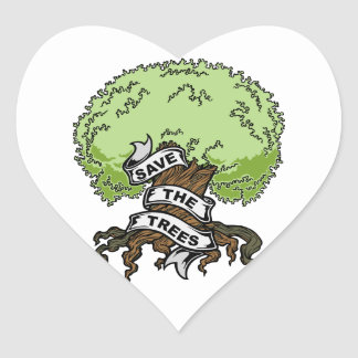 Save The Trees Heart Sticker