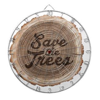 Save the trees Inspirational Design Dartboard