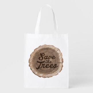 Save the trees Inspirational Reusable Bag
