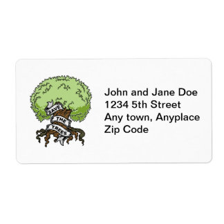 Save The Trees Label