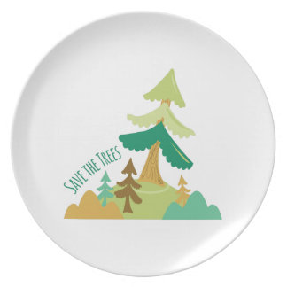 Save The Trees Plates