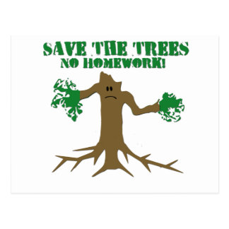 Save The Trees Postcard