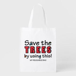 Save the Trees Reusable Bag