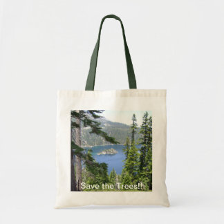 Save the Trees!! SHOPPING TOTE