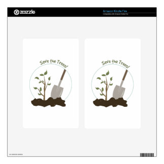 Save The Trees Kindle Fire Decals