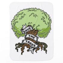 Save The Trees Stroller Blanket