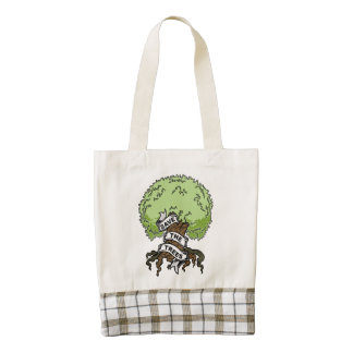 Save The Trees Zazzle HEART Tote Bag