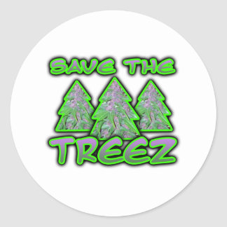 Save the Treez Classic Round Sticker