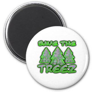 Save the Treez Refrigerator Magnet