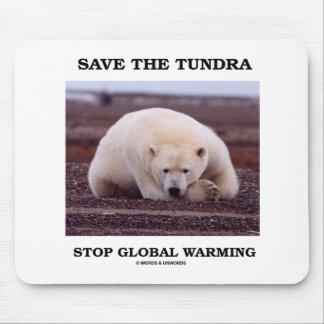 Save The Tundra Stop Global Warming (Polar Bear) Mouse Pad
