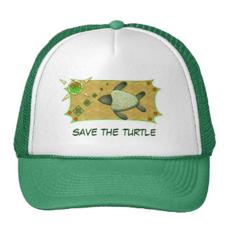 Save The Turtle Mesh Hats