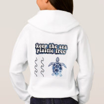 SAVE THE TURTLES, Keep the sea plastic free Hoodie