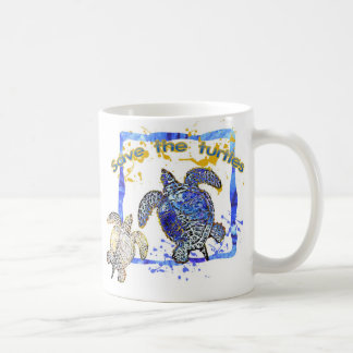 Save the turtles classic white coffee mug