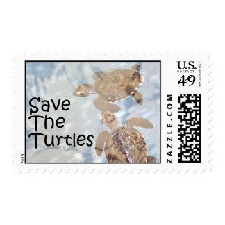 Save The Turtles Postage Stamp