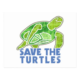 Save the Turtles Postcard